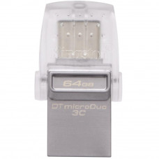 USB флеш накопитель Kingston 64GB DataTraveler microDuo 3C USB 3.1 (DTDUO3C/64GB) - Фото №1