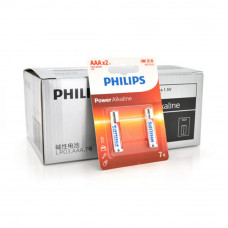 Батарейка PHILIPS AAA Alkaline 1.5V LR03, 2pcs/card (LR03P2BT/93) - Фото №1
