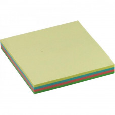 Папір для нотаток BUROMAX with adhesive layer 76х76мм, 100sheets, pastel colors mix (BM.2312-10)
