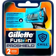 Сменные кассеты Gillette Fusion ProShield Chill 2 шт (7702018412334) - Фото №1