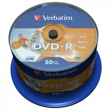 Диск DVD Verbatim 4.7Gb 16X CakeBox 50шт AZO Print (43533) - Фото №1