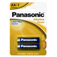 Батарейка PANASONIC LR06 Alkaline Power * 2 (LR6REB/2BP) - Фото №1