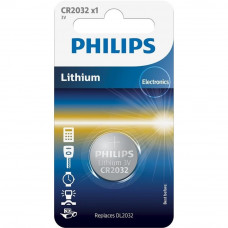 Батарейка PHILIPS CR2032 Lithium * 1 (CR2032/01B) - Фото №1