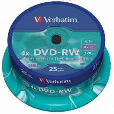 Диск DVD Verbatim 4.7Gb 4x CakeBox 25 шт silver (43639) - Фото №1
