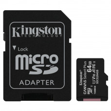 Карта памяти Kingston 64GB micSDXC class 10 A1 Canvas Select Plus (SDCS2/64GB) - Фото №1