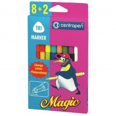 Фломастеры Centropen 2549 Magic, 10шт (8 colors+ 2 erasers) (2549/10) - Фото №1