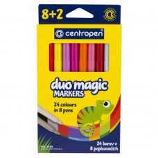 Фломастеры Centropen 2599 Duomagic, 10шт (8 tones + 2 different erasers) (2599/10) - Фото №1