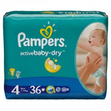 Подгузник Pampers Active Baby-Dry Maxi (8-14 кг) 36шт (4015400537458)