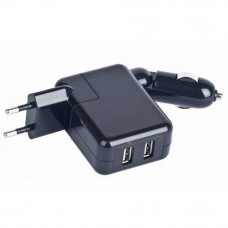 Зарядное устройство GEMBIRD car + wall charger (MP3A-UC-ACCAR2)