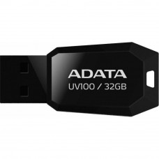 USB флеш накопитель ADATA 32GB DashDrive UV100 Black USB 2.0 (AUV100-32G-RBK) - Фото №1
