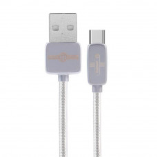 Дата кабель USB 2.0 AM to Type-C 1.0m Regor silver Remax (RC-098A-SILVER) - Фото №1