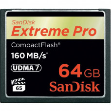 Карта памяти SANDISK Compact Flash Card 64Gb Extreme PRO (SDCFXPS-064G-X46) - Фото №1
