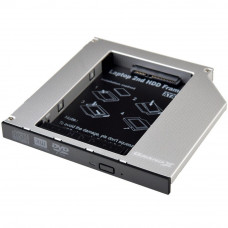 Фрейм-переходник Grand-X HDD 2.5'' to notebook 12.7 mm ODD SATA/mSATA (HDC-25N) - Фото №1