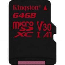 Карта памяти Kingston 64GB microSDXC class 10 UHS-I U3 (SDCR/64GBSP) - Фото №1