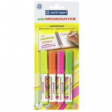 Маркер Centropen Fax 8052 1-4,6 мм, chisel tip, SET 4colors (BLister) (8052/4/BL) - Фото №1