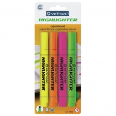 Маркер Centropen Fax 8852 1-4,6 мм, chisel tip, SET 4colors (BLister) (8852/4/BL) - Фото №1