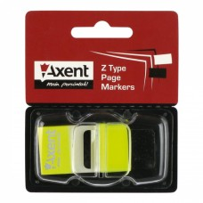Стикер-закладка Axent Plastic bookmarks 25х45mm, 50шт, neon yellow (2446-01-А) - Фото №1