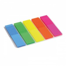 Стикер-закладка Axent Plastic bookmarks 5х12х50mm, 125шт, rectangles, neon colors (2440-01-А) - Фото №1