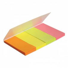 Стикер-закладка Axent Paper bookmark 4х20х50mm, 160шт, rectangles, neon colors mix (2445-01-А) - Фото №1