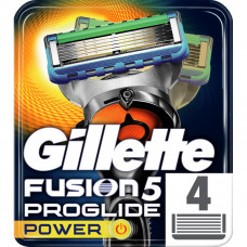 Сменные кассеты Gillette Fusion ProGlide Power 4 шт (7702018085576) - Фото №1