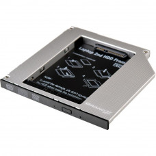 Фрейм-переходник Grand-X HDD 2.5'' to notebook 9.5 mm ODD SATA/mSATA (HDC-24) - Фото №1