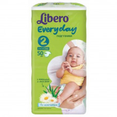 Підгузок Libero Everyday Natural 2 3-6кг 50 шт (7322540613896)  - Фото №1