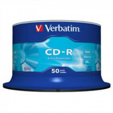 Диск CD Verbatim 700Mb 52x Cake box 50 Extra (43351) - Фото №1