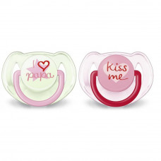Пустышка Philips AVENT Classic I love (SCF172/70_girl) - Фото №1