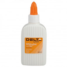 Клей Delta by Axent White glue, PVA, 100 мл, cap dispenser (D7122) - Фото №1