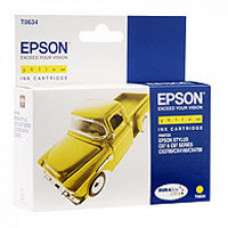 Картридж Epson (C13T06344A10) Yellow 8ml (StC67/ C87, CX3700/ 4100/ 4700) - Фото №1