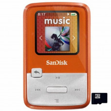 Flash плеер MP3 4GB SanDisk Sansa Clip Zip (SDMX22-004G-E46O) Orange экран: LCD, 1.1