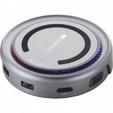 Порт-репликатор CANYON Docking Station with 5 port, with wireless charger 10W, Inpu (CNS-TDS07DG) - Фото №1