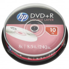 Диск DVD HP DVD+R 8.5GB 8X DL 10шт Spindle (69309) - Фото №1