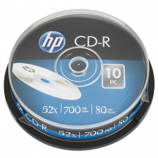 Диск CD HP CD-R 700MB 52X 10шт Spindle (69308/CRE00019-3) - Фото №1