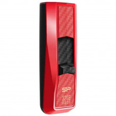 USB флеш накопитель Silicon Power 32Gb Blaze B50 Red USB 3.0 (SP032GBUF3B50V1R) - Фото №1