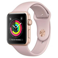 Смарт-годинник Apple Series 3 GPS, 42mm Gold Aluminium Case with Pink Band (MQL22FS/A) 1.65', iOS, 1