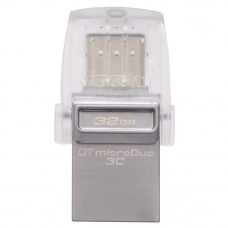 USB флеш накопитель Kingston 32GB DataTraveler microDuo 3C USB 3.1 (DTDUO3C/32GB) - Фото №1