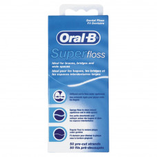 Зубна нитка Oral-B Super Floss 50 м (5010622008204)  - Фото №1