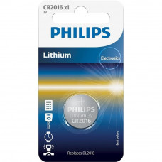 Батарейка PHILIPS CR2016 Lithium (CR2016/01B) - Фото №1