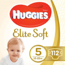 Подгузник Huggies Elite Soft 5 (12-22 кг) 112 шт (5029054566237)