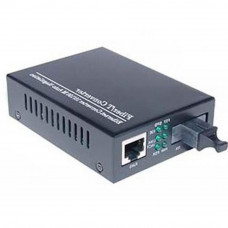 Медиаконвертер Merlion 10/100Base-TX to 100Base-F 1310нм, SM, SC/RJ-45, 25 км + БП (HTB-3100A / 1310 - Фото №1
