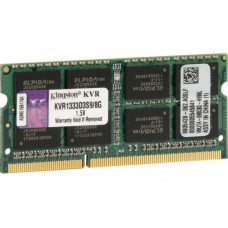 Модуль памяти для ноутбука SoDIMM DDR3 8GB 1333 MHz Kingston (KVR1333D3S9/8G) - Фото №1