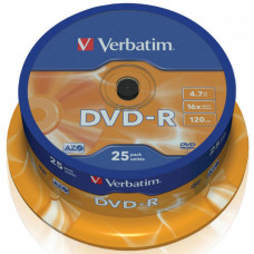 Диск DVD Verbatim 4.7Gb 16X CakeBox 25шт (43522) - Фото №1