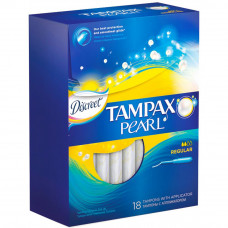 Тампоны Tampax Pearl Regular с апликатором 18 шт (4015400532989) - Фото №1