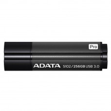 USB флеш накопичувач ADATA 256GB S102PRO Gray USB 3.1 (AS102P-256G-RGY) 256 Gb, USB 3.1, алюміній, с
