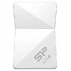 USB флеш накопитель Silicon Power 32Gb Touch T08 White USB 2.0 (SP032GBUF2T08V1W) - Фото №1