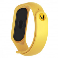 Ремешок для фитнес браслета Armorstandart Superhero Edition for Xiaomi Mi Band 4/3 Wolverine Yellow  - Фото №1