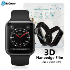 Пленка защитная BeCover Full Cover для Apple Watch Series 3/4 42mm/44mm (701962)