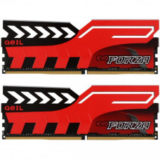 Модуль памяти для компьютера DDR4 16GB (2x8GB) 3200 MHz EVO Forza Hot-Rod Red GEIL (GFR416GB3200C16A