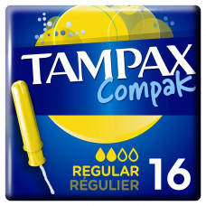 Тампоны Tampax Compak Regular с апликатором 16 шт (4015400219507) - Фото №1
